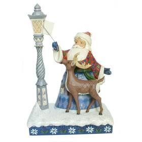 Weihnachtsmann Laterne Dekofigur Jim Shore Heartwood Creek  – Bild 1