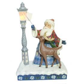 Weihnachtsmann Laterne Dekofigur Jim Shore Heartwood Creek  – Bild 2