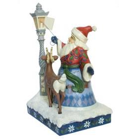 Weihnachtsmann Laterne Dekofigur Jim Shore Heartwood Creek  – Bild 3