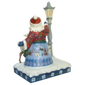 Weihnachtsmann Laterne Dekofigur Jim Shore Heartwood Creek  – Bild 4