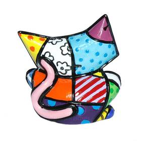 ROMERO BRITTO Katze Mini Figur Sugar Cat Pop Art Kunst – Bild 2