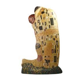 Gustav Klimt Der Kuss Skulptur Figur – Bild 2