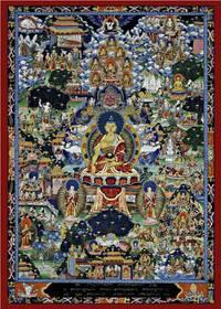 Thangka Buddha Lebenslauf Reproduktion auf Fine-Art-Papier oder Leinwand – Bild 4