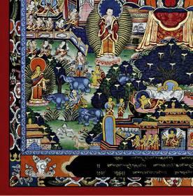 Thangka Buddha Lebenslauf Reproduktion auf Fine-Art-Papier oder Leinwand – Bild 2
