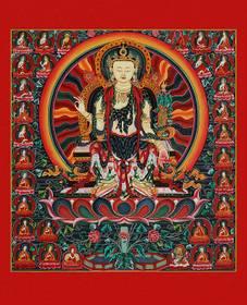 Thangka Buddha Maitreya Reproduktion auf Fine-Art-Papier oder Leinwand – Bild 1