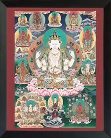 Thangka Bodhisattva Avalokitesvara Lokeshvar Reproduktion auf Fine-Art-Papier oder Leinwand – Bild 5