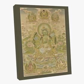 Thangka Grüne Tara Reproduktion auf Fine-Art-Papier oder Leinwand – Bild 5