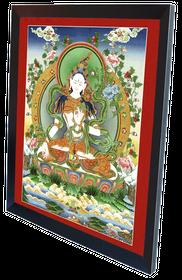 Thangka Weisse Tara Reproduktion auf Fine-Art-Papier oder Leinwand – Bild 6