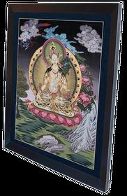 Weiße Tara Thangka Reproduktion auf Fine-Art-Papier oder Leinwandbild – Bild 6