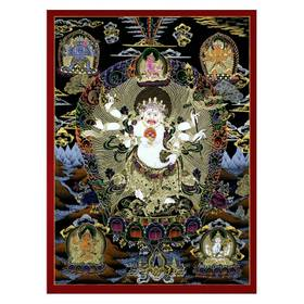 Thangka Cintamani Mahakala Reprodution auf Fine-Art-Papier oder Leinwand – Bild 1
