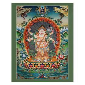 Thangka Cintamani Mahakala Reproduktion auf Fine-Art-Papier oder Leinwand – Bild 1