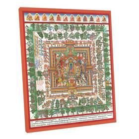 Thangka Medizinbuddha Mandala Kunstdruck auf Fine-Art-Papier oder Leinwand – Bild 5