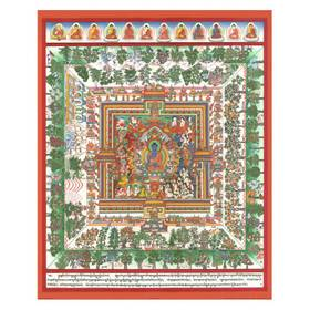 Thangka Medizinbuddha Mandala Kunstdruck auf Fine-Art-Papier oder Leinwand – Bild 4