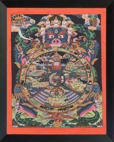 Thangka Buddistische Lebensrad Reproduktion auf Fine-Art-Papier oder Leinwand – Bild 7