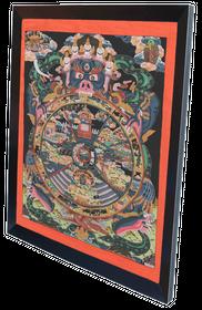 Thangka Buddistische Lebensrad Reproduktion auf Fine-Art-Papier oder Leinwand – Bild 8