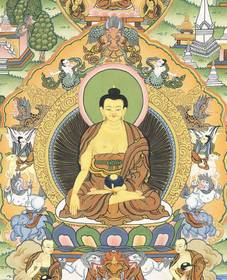 Thangka Leben des Buddha Shakyamuni Reproduktion Fine-Art-Papier oder Leinwand – Bild 2