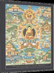 Thangka Das Leben des Buddha Shakyamuni Druck Kunstdruck Reproduktion auf Fine-Art-Papier oder Leinwand – Bild 5