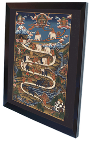 Thangka Der Weg ins Nirwana Reproduktion auf Fine-Art-Papier oder Leinwand  – Bild 9