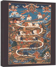 Thangka Der Weg ins Nirwana Reproduktion auf Fine-Art-Papier oder Leinwand  – Bild 6