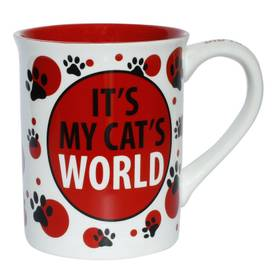Tasse Kaffeetasse mit Spruch Katze My Cat's World Mug