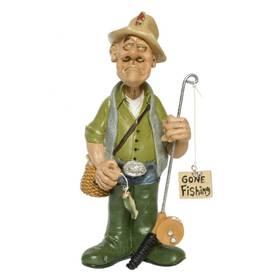 Angler Fischer Berufe Figur witzig ironisch Funny Job – Bild 1