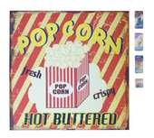 Magnetpinnwand Magnettafel Popcorn Retro-Stil mit 4 Magneten