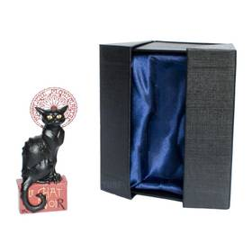 Steinlein La Chat Noir Skulptur Plastik Katze in edler Verpackung