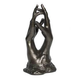 Auguste Rodin Hands Hände Plastik Bronzeoptik Geschenkverpackung – Bild 1