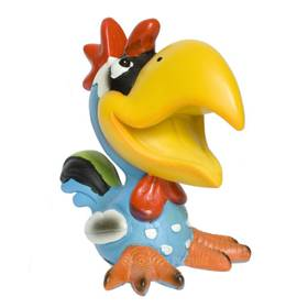 Brillenhalter Brillenständer lustiger Vogel Tukan hellblau – Bild 1