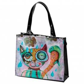 Tasche Tragetasche Katze aus Vinyl von Michelle Allen Designs hochglanz