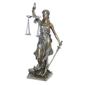 Justitia Göttin Gerechtigkeit Figur Richtschwert und Waage – Bild 1