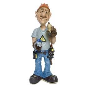Elektriker Elektromonteur Beruf Figur Comicfigur Funny Jobs – Bild 1