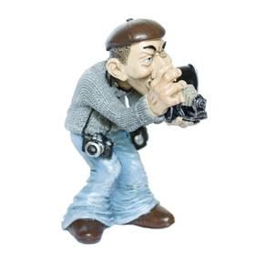Figur Beruf Fotograf mit Kamera witzig ironisch Funny Jobs – Bild 1