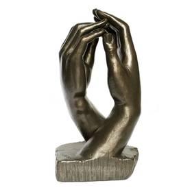 Auguste Rodin Kathedrale Hände Figur Plastik Bronzeoptik