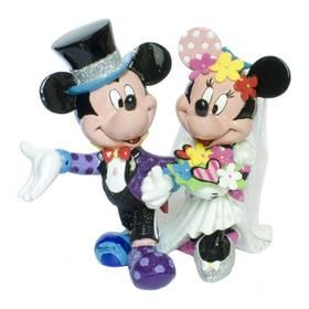 Mickey Mouse Minnie Mouse Hochzeit Britto Disney Figur – Bild 1