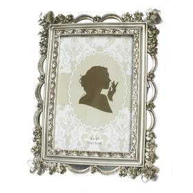 Fotorahmen Bilderrahmen Silber Antik für 10x15 cm oder 13x18 cm – Bild 1