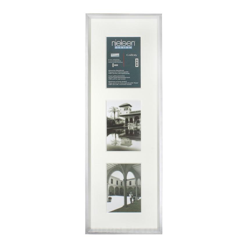 Fotorahmen Bilderrahmen Aluminium silber matt Nielsen 3 x 13x18 cm