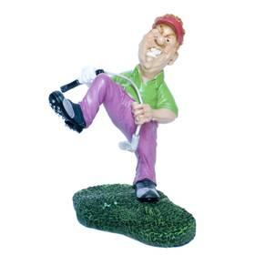 Golfer Golfspieler wütend Sportfigur witzig Funny Jobs