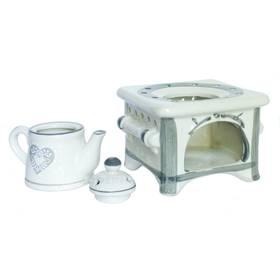 Aromalampe Duftlampe Herd mit Kanne Keramik Handarbeit – Bild 3