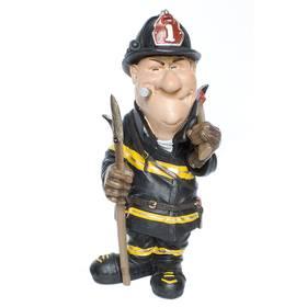 Feuerwehrmann mit Zigarre Beruf Figur Funny Life Comic – Bild 1