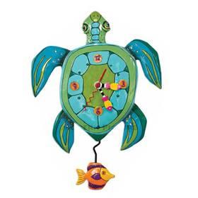 Wanduhr Schildkröte Pendeluhr Tier Michelle Allen Designs