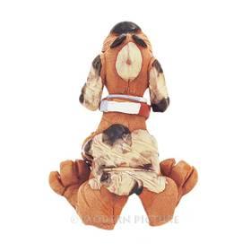 Räucherfigur Hund  sitzend mit Napf aus Keramik Handarbeit – Bild 3