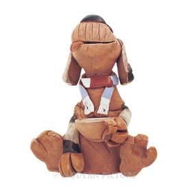 Räucherfigur Hund  sitzend mit Napf aus Keramik Handarbeit – Bild 4