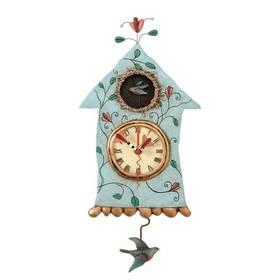 Wanduhr Vogelhaus mit Pendel Fly Bird Clock Michelle Allen Designs