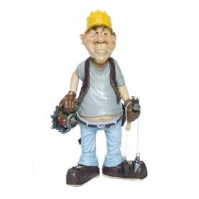 Beruf Figur Zimmermann Bauarbeiter Comic Funny Jobs