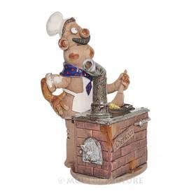 Räucherfigur Koch Räuchermann Keramik Handarbeit