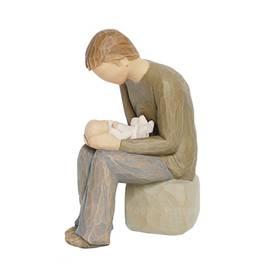 Figur Willow Tree Vater mit Baby New Dad Susann Lordi – Bild 2