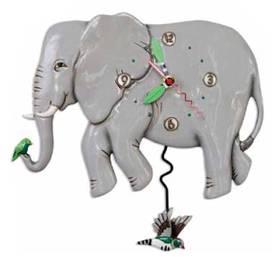 Wanduhr Elefant Pendeluhr Tier Michelle Allen Designs