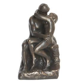 Auguste Rodin Der Kuss Figur in Bronzeoptik – Bild 1
