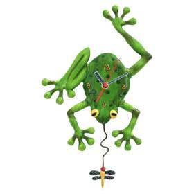 Wanduhr Pendeluhr Frog Fly Clock Frosch Tier